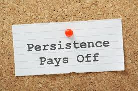 Persistence is to Your Character What Carbon is to Steel